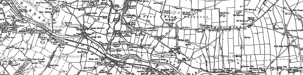 Old map of St John's Chapel in 1896