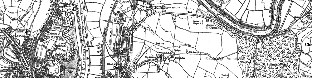 Old map of Beechwood in 1900