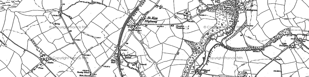 Old map of Tipton in 1880