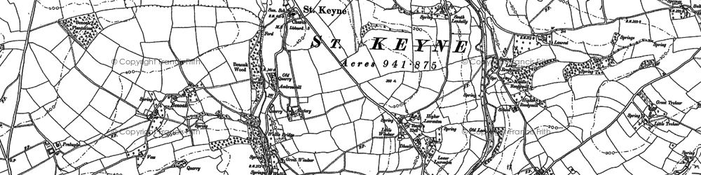 Old map of West Trevillies in 1881