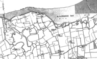 Old Map of St Lawrence, 1886 - 1895