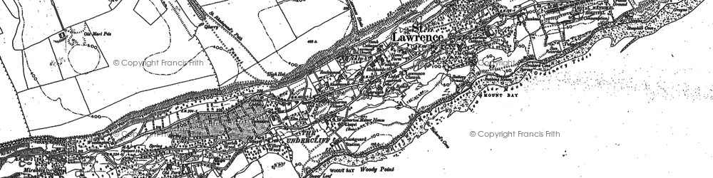 Old map of St Lawrence in 1906