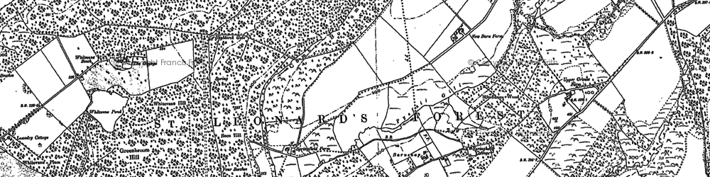 Old map of Lily Beds in 1895