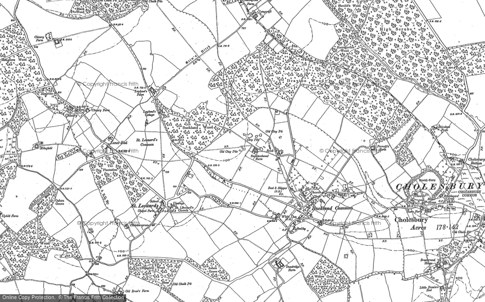 Old Map of Historic Map covering Lanes End in 1897