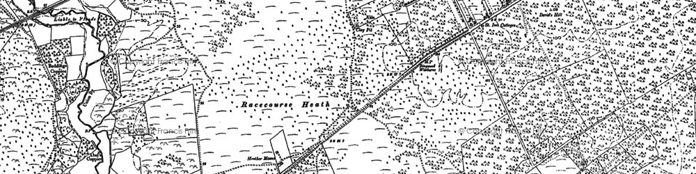 Old map of St Leonards in 1907