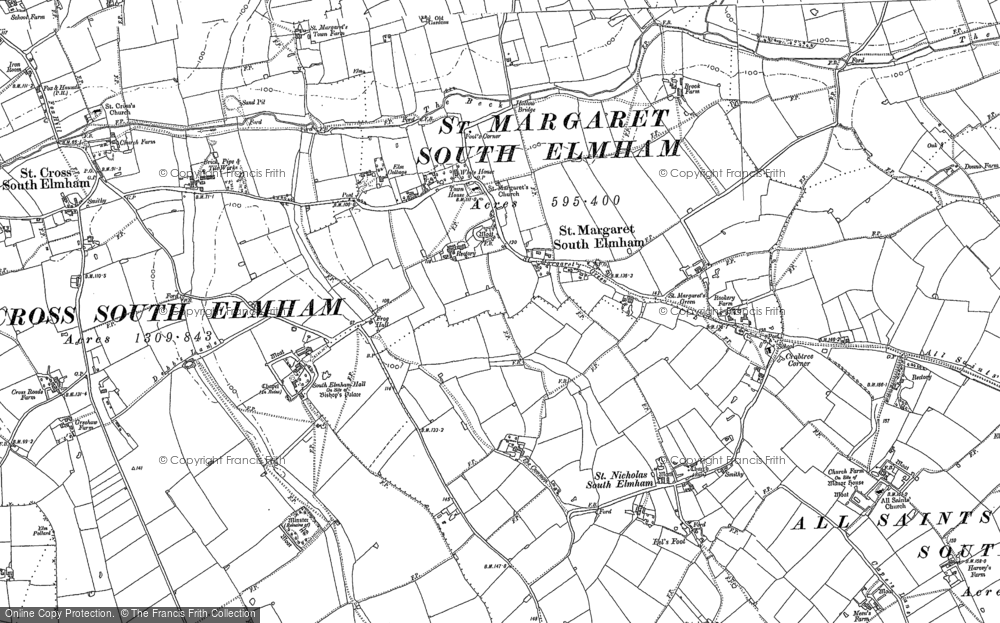 Old Map of St Margaret South Elmham, 1903 in 1903