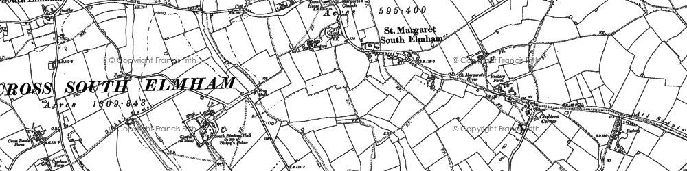 Old map of St Margaret South Elmham in 1903