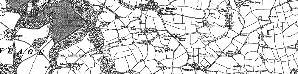 Old map of Withan in 1906