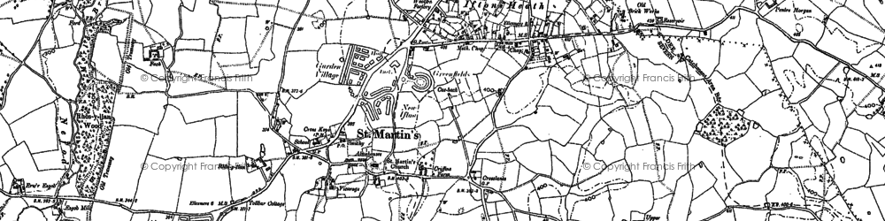 Old map of St Martins in 1874