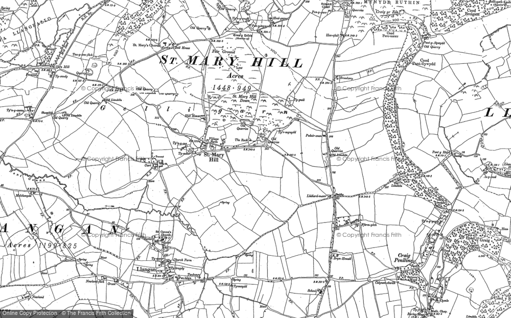 Old Map of St Mary Hill, 1897 in 1897