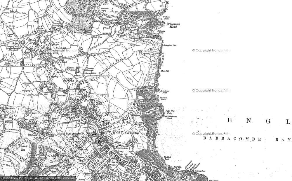 Old Map of St Marychurch, 1904 in 1904