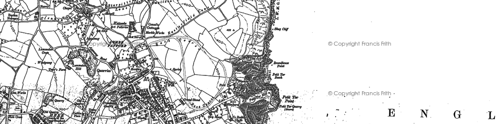 Old map of St Marychurch in 1904