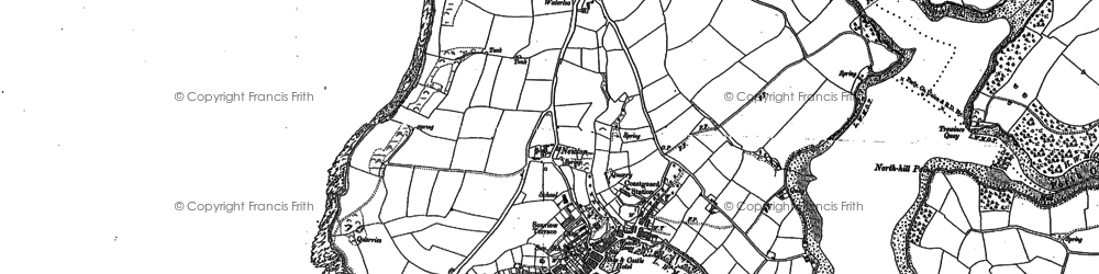 Old map of St Mawes in 1879
