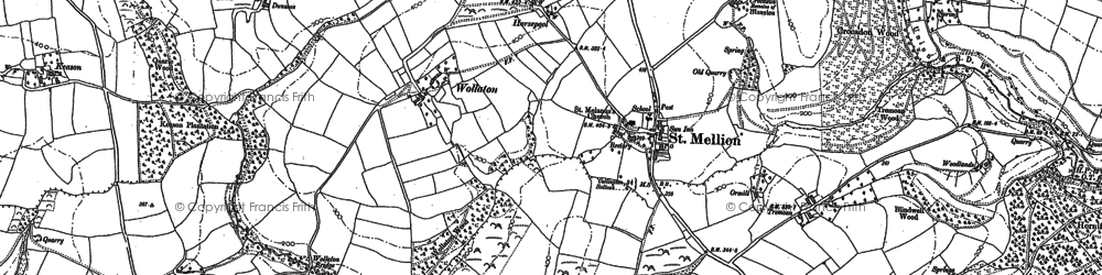 Old map of Bealbury in 1882