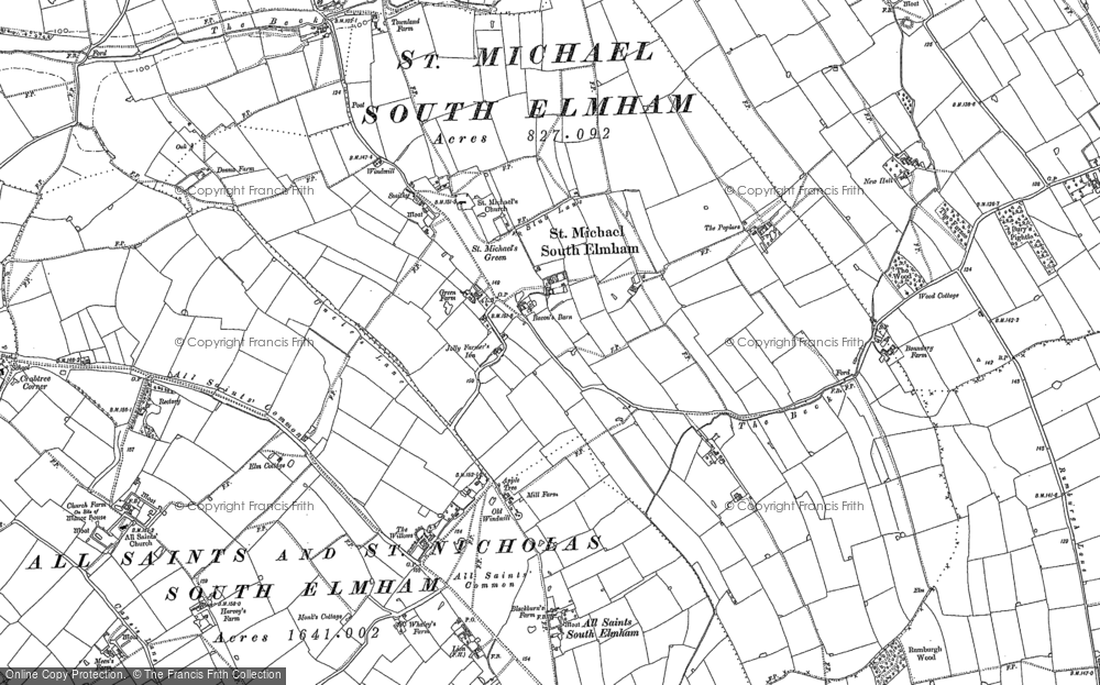 Old Map of St Michael South Elmham, 1903 in 1903