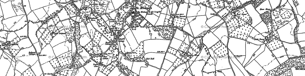 Old map of Wilden in 1885