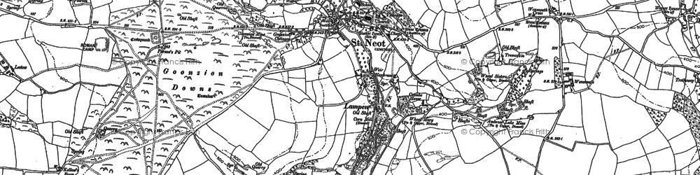Old map of St Neot in 1881