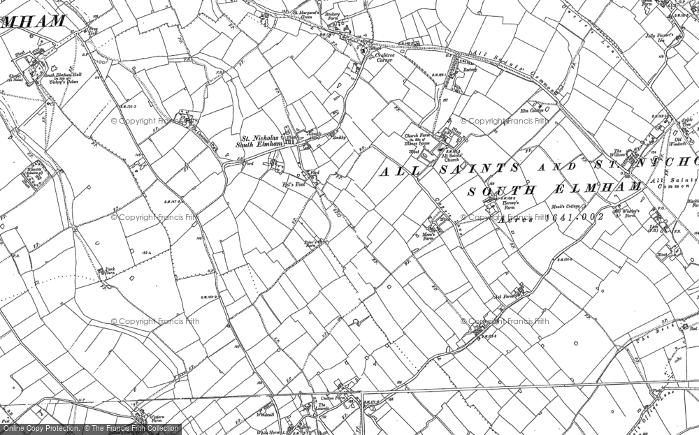 Old Map of St Nicholas South Elmham, 1903 in 1903