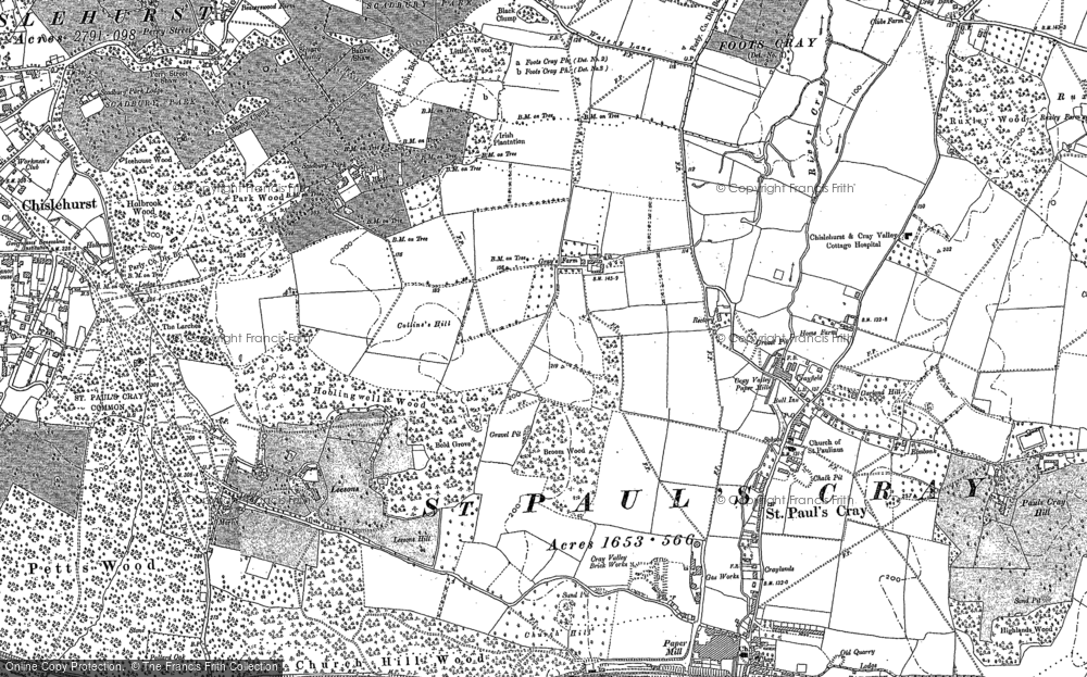 Old Maps of St Pauls Cray Francis Frith