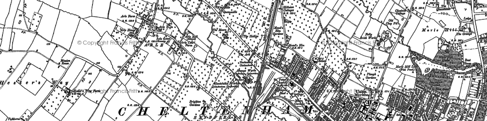 Old map of Alstone in 1884