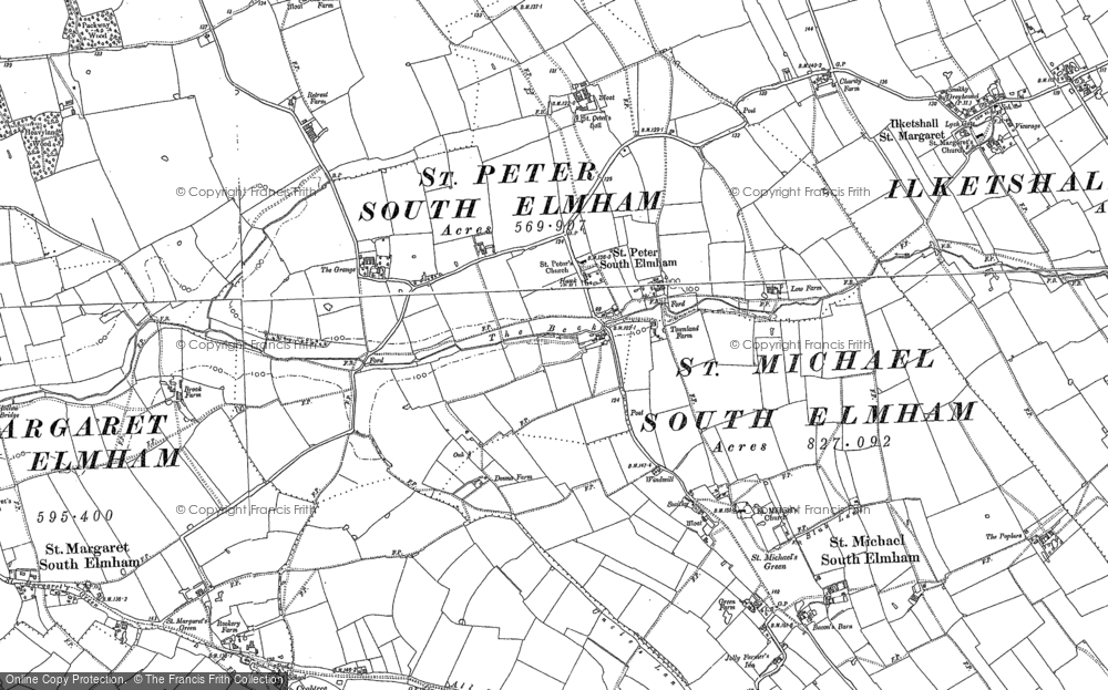 Old Map of St Peter South Elmham, 1903 in 1903