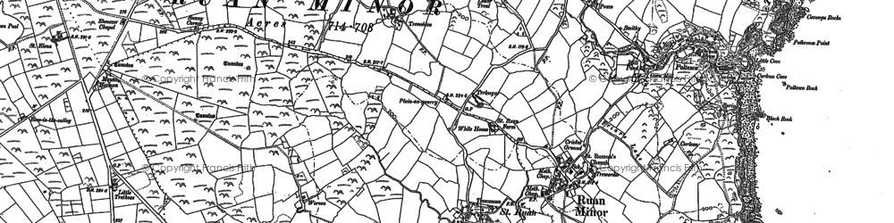 Old map of Grade in 1878