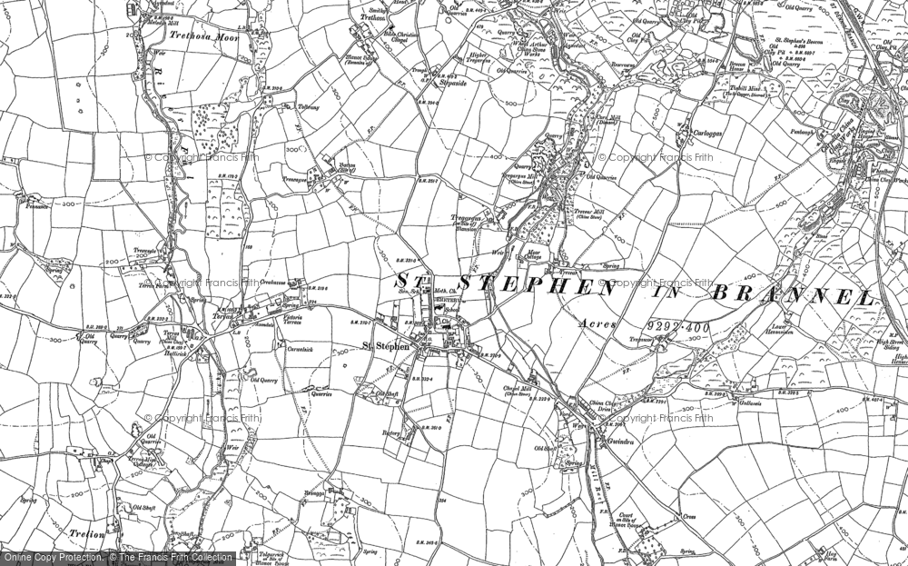 Old Map of Historic Map covering Tolgarrick in 1879