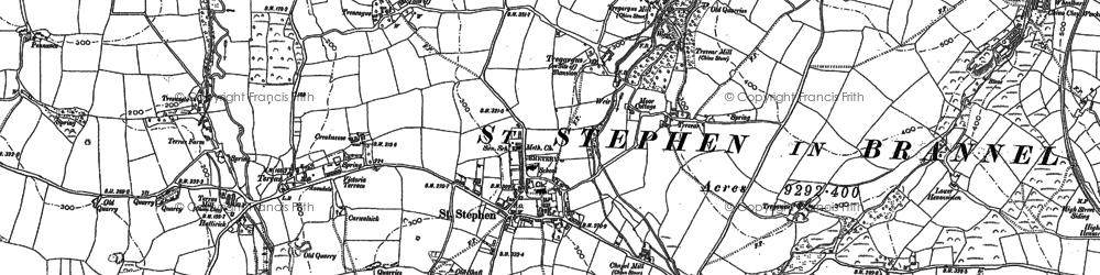 Old map of Tolgarrick in 1879