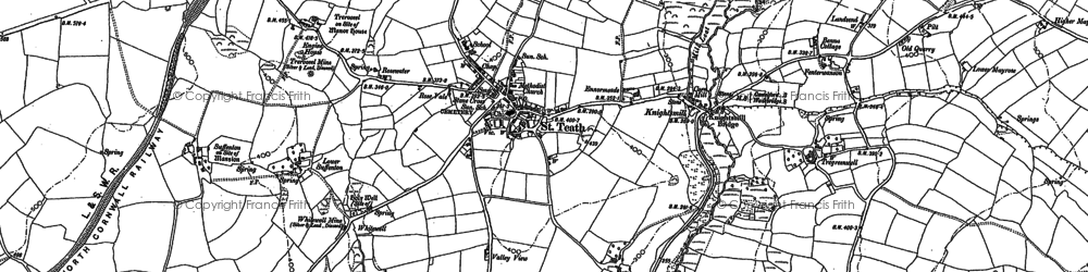 Old map of Whitewell in 1880