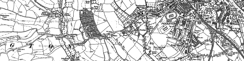 Old map of Wheatley in 1886