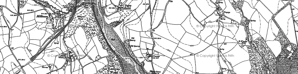 Old map of Lantyan Wood in 1881