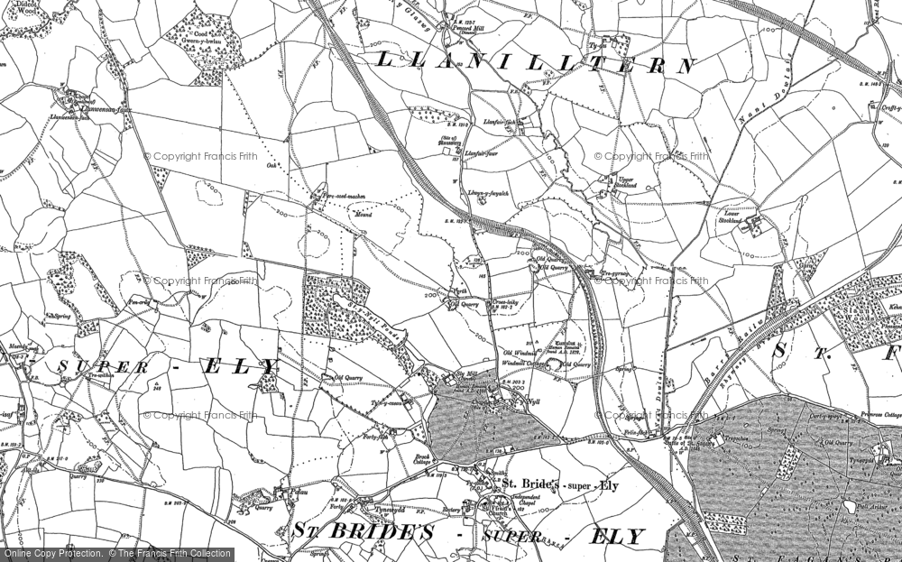 Old Map of Historic Map covering Allt Isaf in 1897