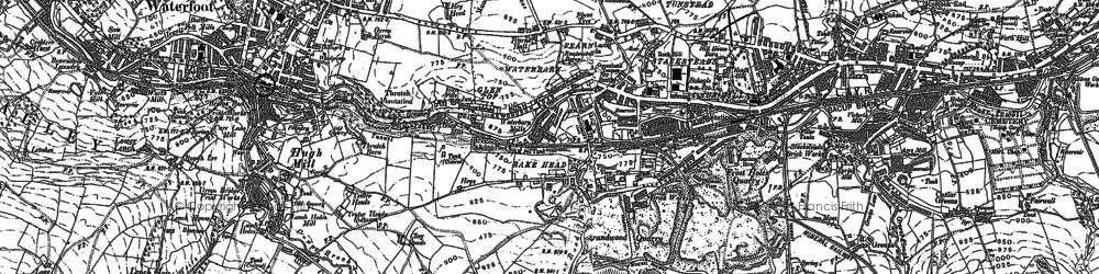 Old map of Stacksteads in 1891