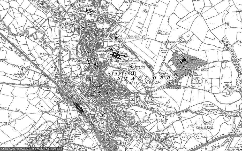 Old Map of Stafford, 1880 in 1880