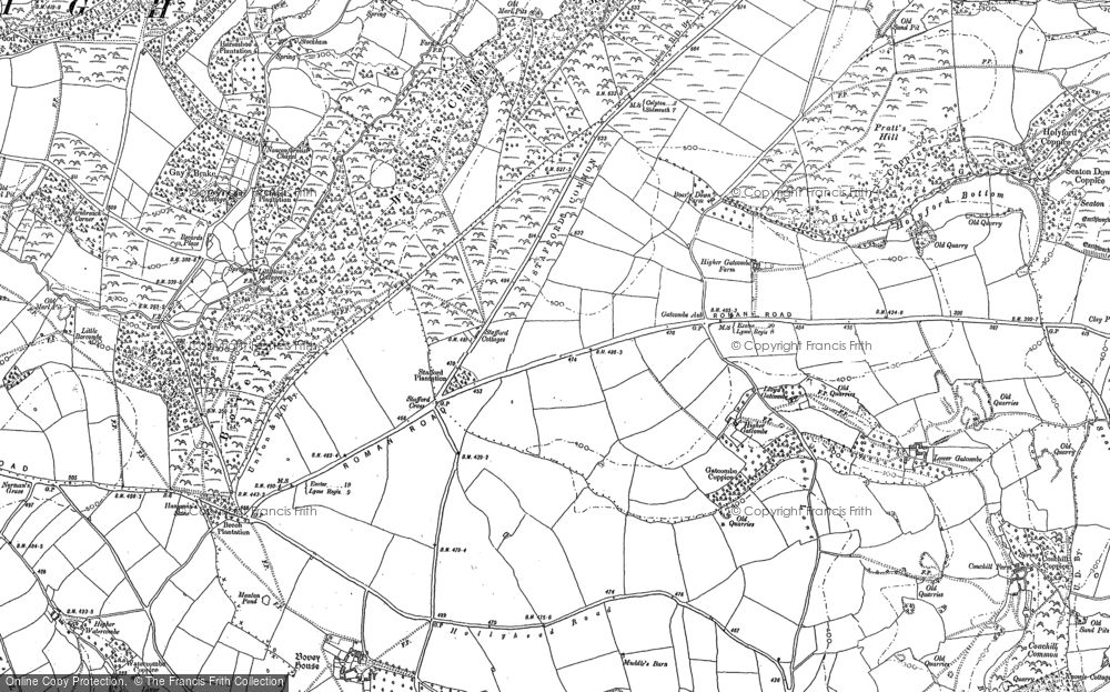 Old Map of Stafford Cross, 1903 in 1903