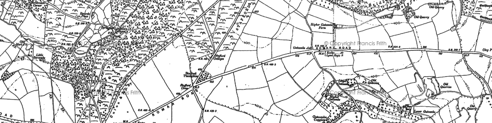 Old map of Woodhead in 1903