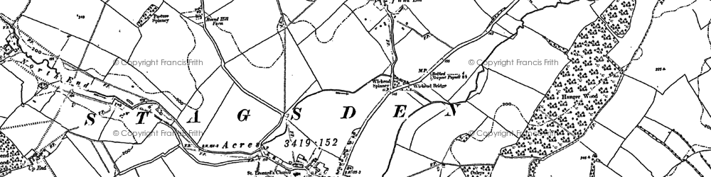 Old map of Astey Wood in 1882