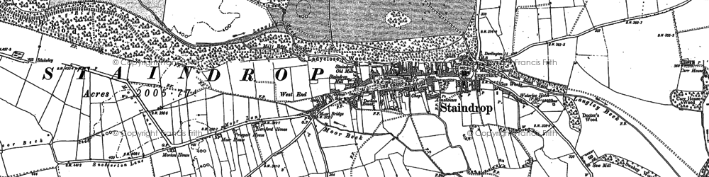 Old map of West Side Ho in 1896