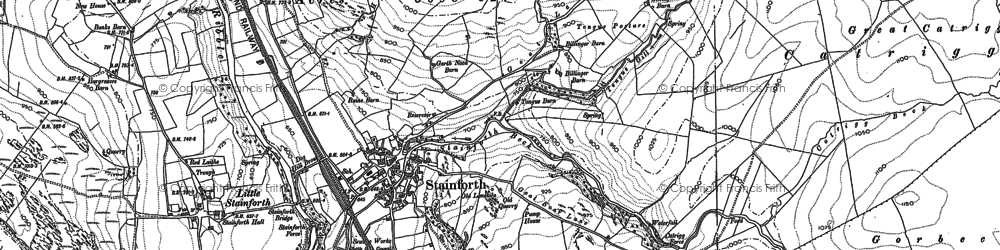 Old map of Stainforth in 1891