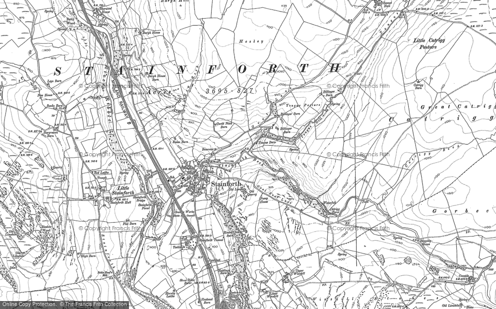 Old Map of Historic Map covering Westside Ho in 1907