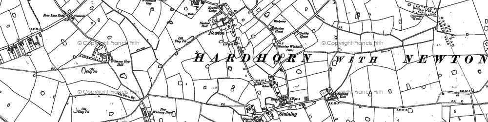 Old map of Staining in 1891