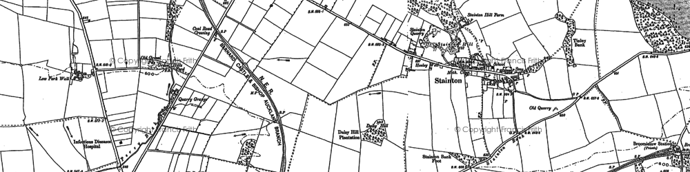 Old map of Westwick Moor in 1896
