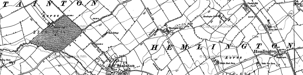 Old map of Stainton in 1913