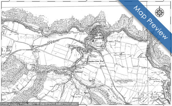 Historic Map covering Brackenberry Wyke