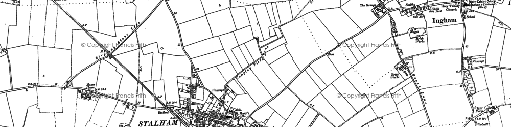 Old map of Stalham in 1884