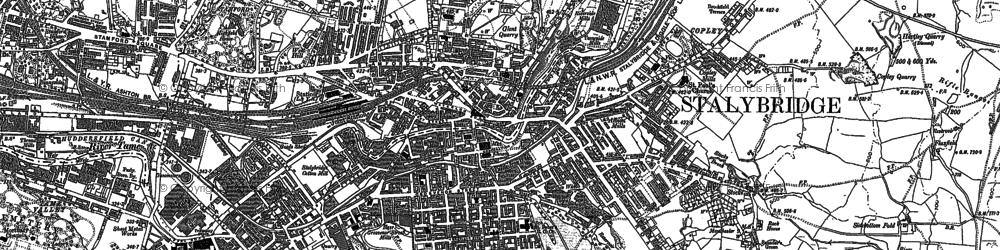 Old map of Stalybridge in 1907