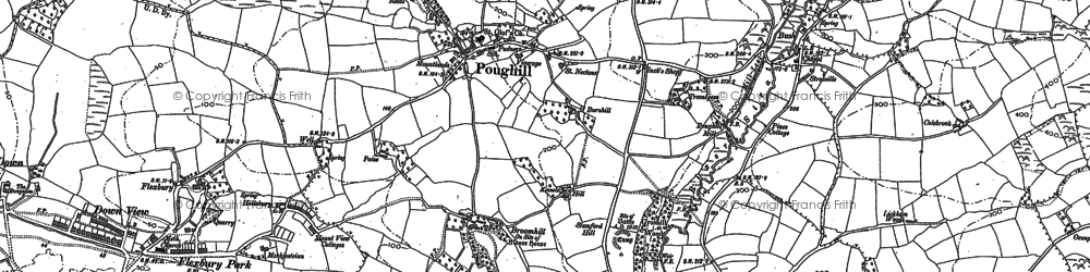 Old map of Flexbury in 1905