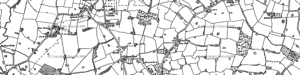 Old map of Wick Hill in 1896
