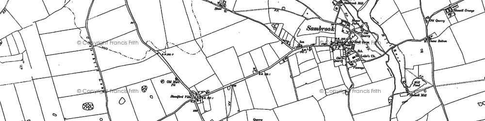 Old map of Standford Bridge in 1880