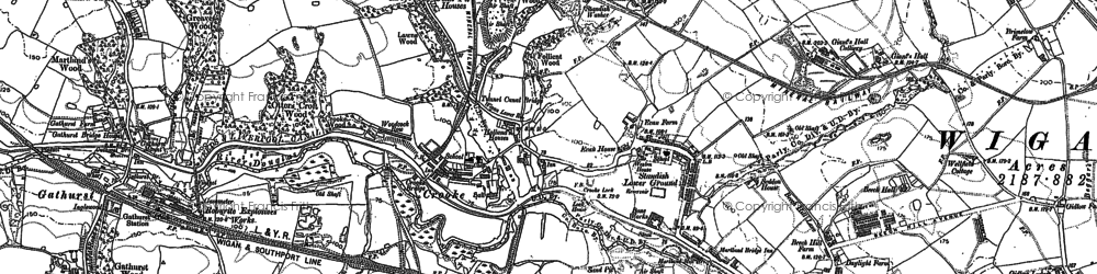 Old map of Ackhurst Hall in 1892